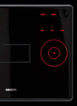 Geneva S in black control panel