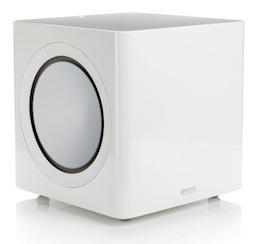 Radius380 subwoofer in gloss white