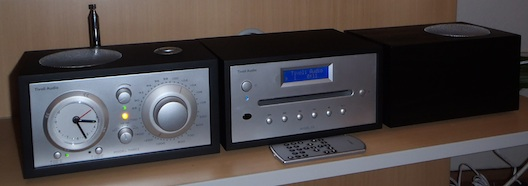 Tivoli Model Three clock radio with CD and stereo speaker