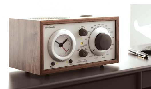 Tivoli Model Three clock radio with Bluetooth in walnut from Totally Wired